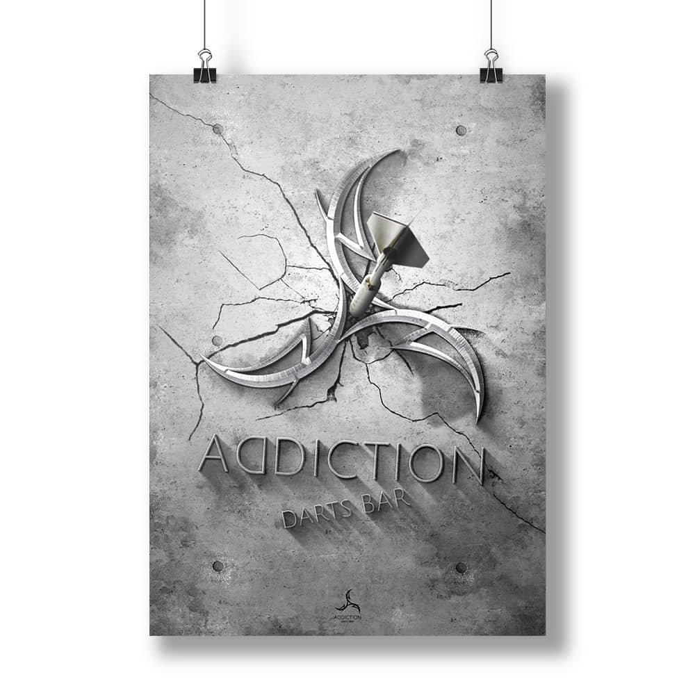 Darts Bar ADDICTION ポスター